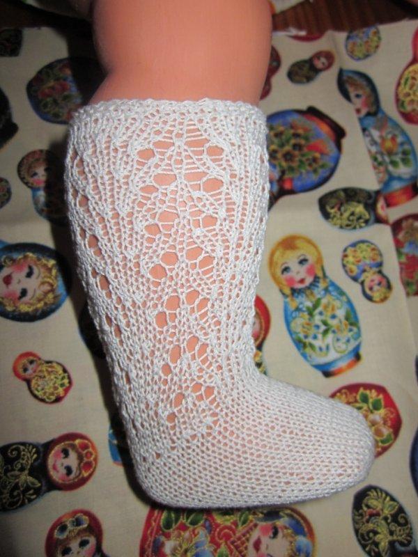 Chaussettes pour poupées anciennes