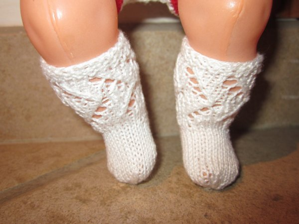 Chaussettes pour poupon de 30 cm