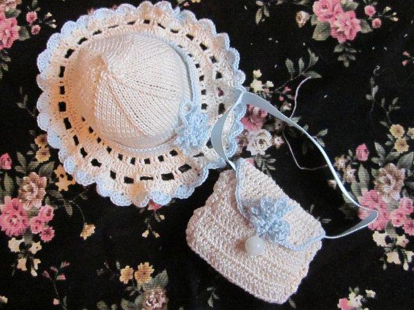 chapeau et sac pour bleuette     (pour annie mais pas que....)