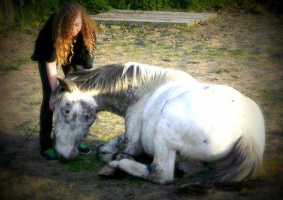 Un cheval, une Fille. . . Mektoub, Elise. . .