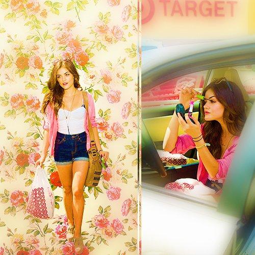 Lucy a la sortie d'une magasin Target