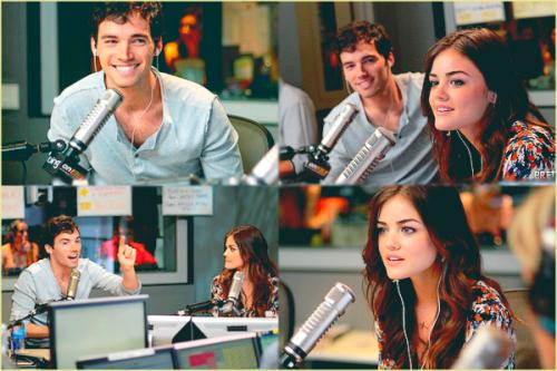 Lucy et Ian a la radio de Ryan Seacrest.
