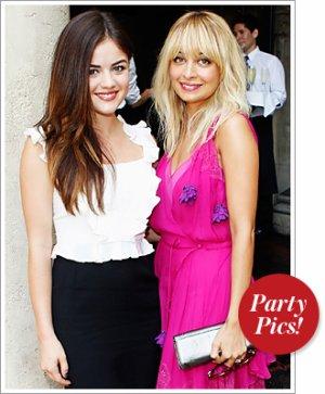 Lucy Hale a la garden party Dior