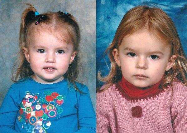 Les soeurs au même âge ...