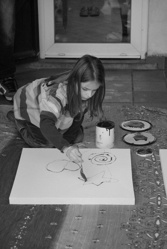 Atelier peinture avec Papa