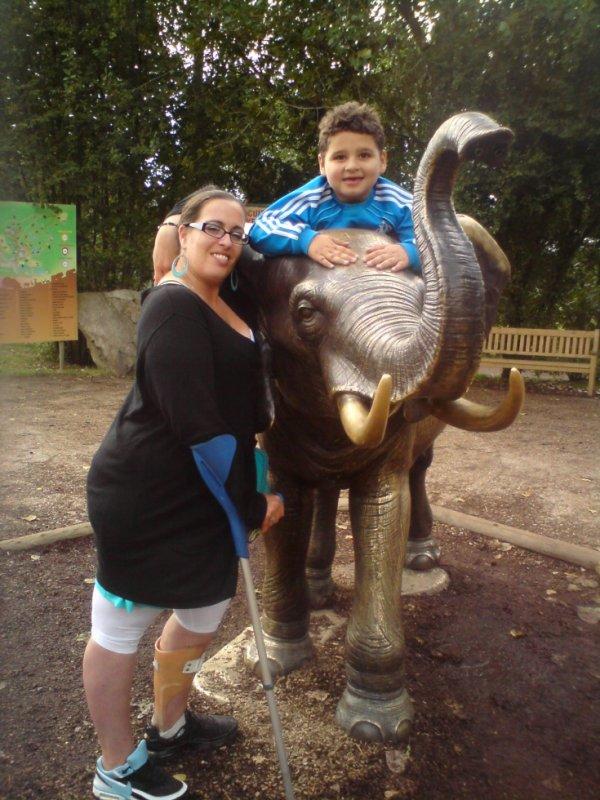 moi et mon fils au zoo de cerza