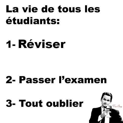 Le quotidien d'un étudiant...