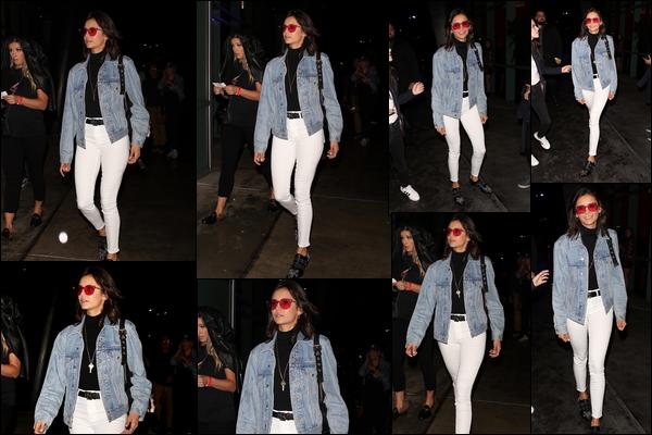 12.10.2018 : Nina Dobrev s'est rendue au « Staples Center » pour le concert de Drake et Migos à Los Angeles