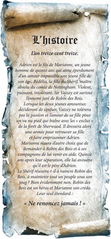 """ROBIN DES BOIS - le spectacle musical """"ne renoncez jamais"""""""