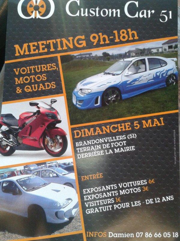 quelques meeting ou le beach cars concept sera present