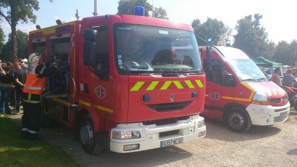 Les pompiers en action