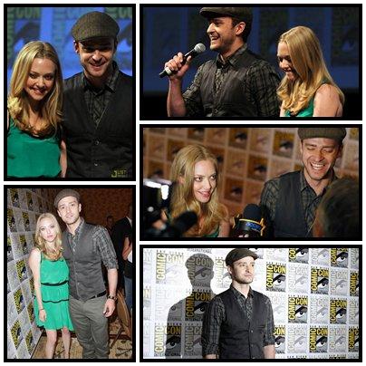 Le 21 juillet Justin & sa Partenaire Amande Syfried était au Comic Con 2011  qui avait lieu à San Diego (FashBack)