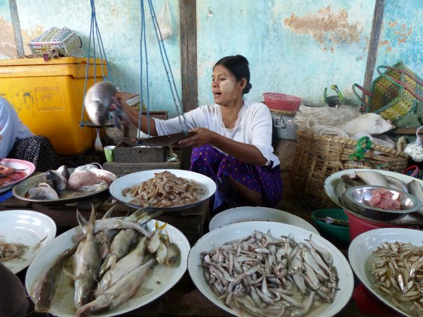 Myanmar 4-1 : Marché alimentaire