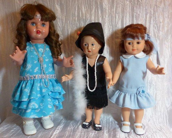 """Youpi!!! l'année 2017 continue avec le défi """"Années Folles"""" pour mes poupées."""