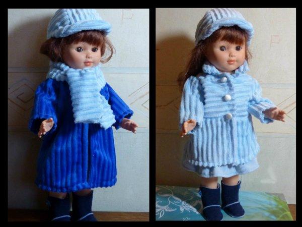 Mado en manteau bleu foncé