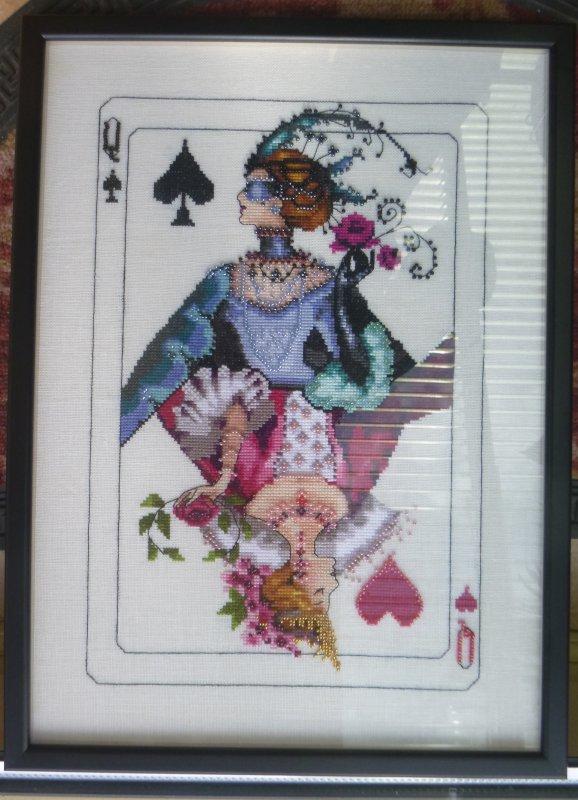 La carte à jouer enfin encadrée
