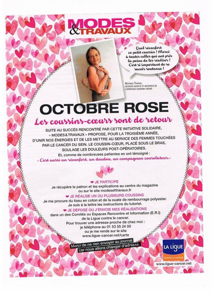 Octobre rose : mois contre le cancer du sein