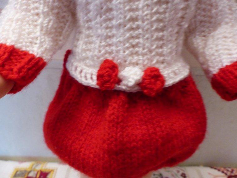 Rouge et blanc pour Marie-Françoise à Noël
