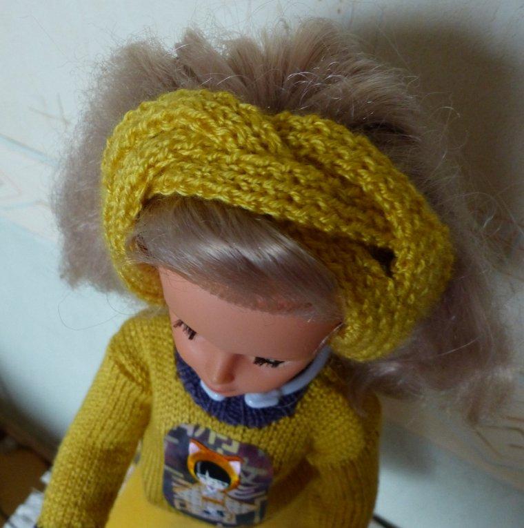 Bandeau au tricot pour Cathy