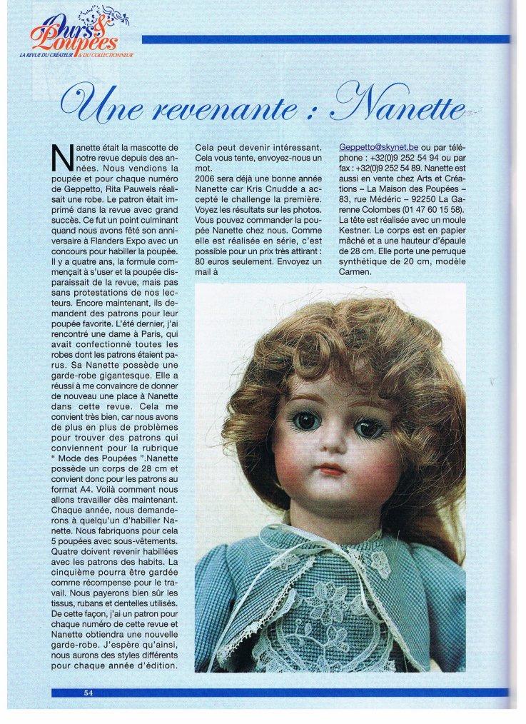 Histoire de la poupée Nanette