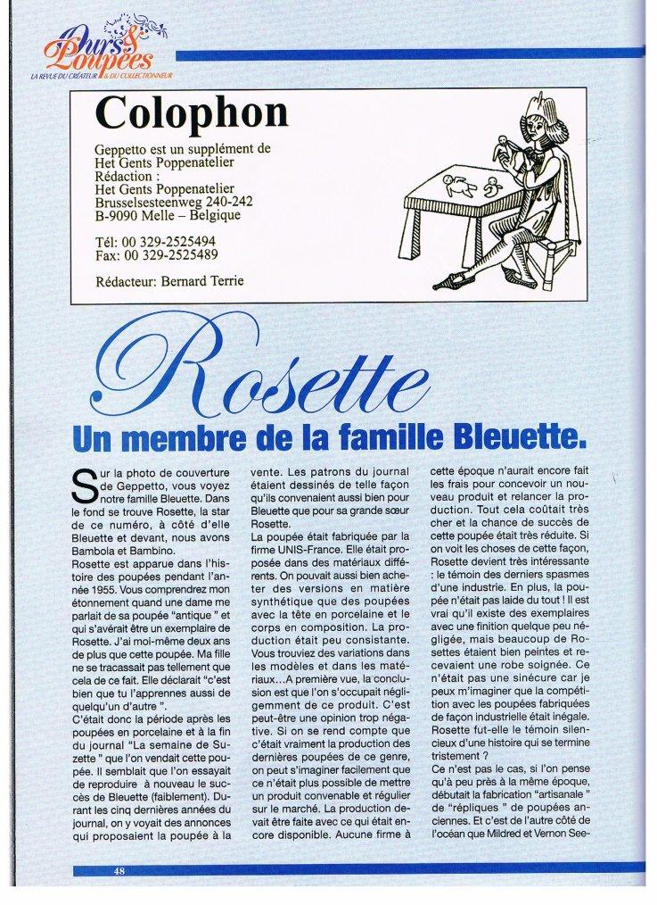 Histoire de la poupée Rosette