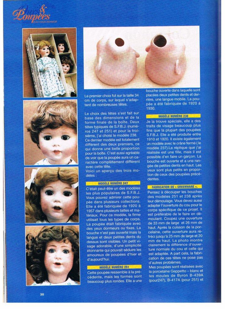 Histoire des poupées SFBJ : 1