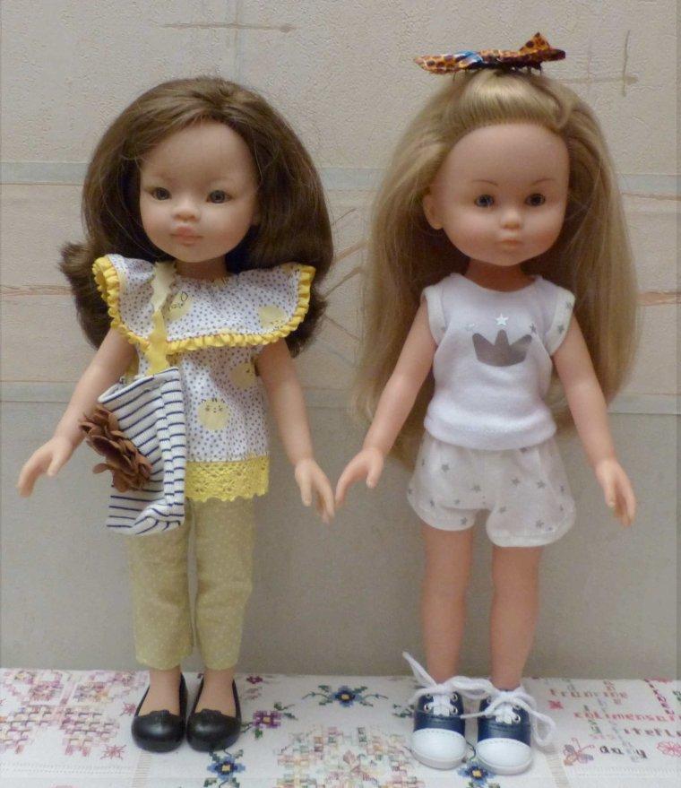 Nouvelles tenues pour Corolle et Paola
