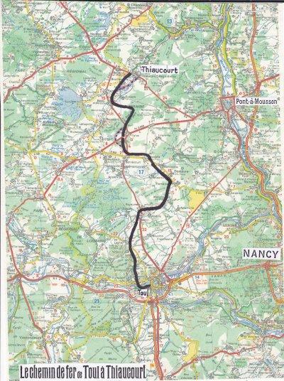 CHAPITRE : 5 : Le chemin de fer de 1910  de Toul à Thiaucourt :