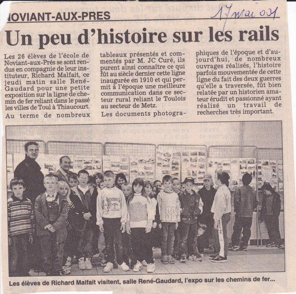 Les expositions - exposés du Thiaucourt  ( II ) :