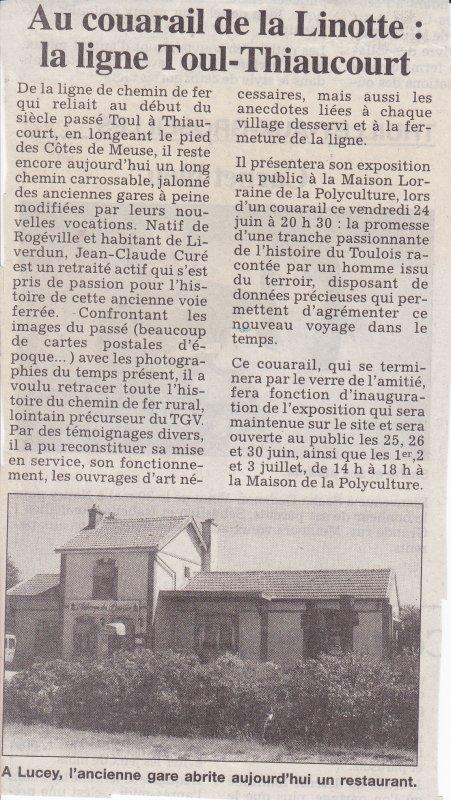 Les expositions- exposés  du Thiaucourt  ( III ) :