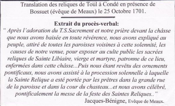 Les reliques de Sainte Libaire ( III ) :