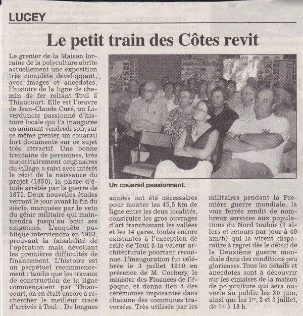 Exposition-exposé à la maison Lorraine de Lucey. ( II )