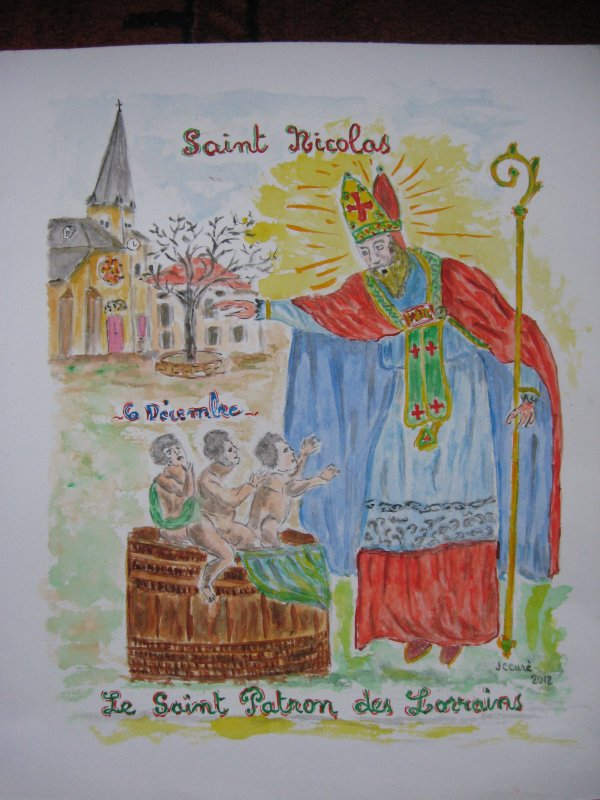 6 décembre : fête de St Nicolas .