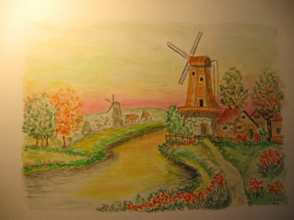 Peindre un moulin....à vent .