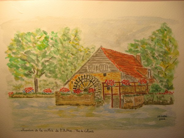 Peindre un moulin ... à eau :