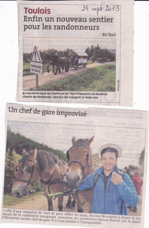 Le chemin de randonnées du Thiaucourt ( V I )