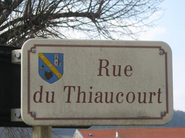 Bruley : La Rue du Thiaucourt .