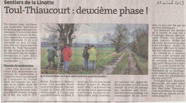 Le chemin de randonnées du Thiaucourt ( I X ) :