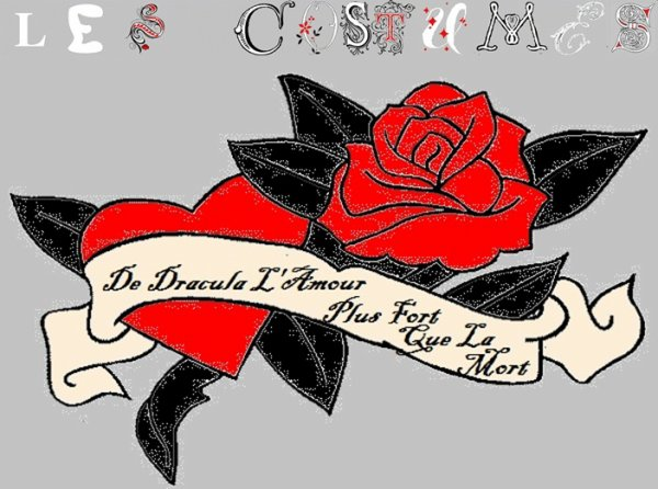 """ Les Costumes De Dracula L'Amour Plus Fort Que La Mort """