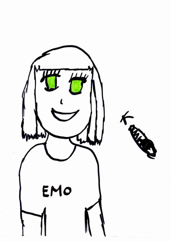 une fille emo lol
