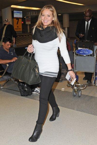 Hilary Duff enceinte de Luca