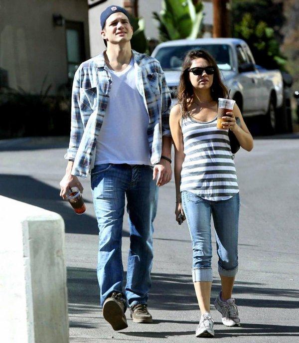 Mila Kunis enceinte de Wyatt Kutcher
