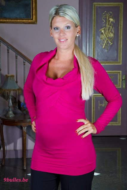 Amelie Neten enceinte de Hugo