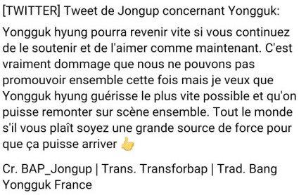Encore plus de soutient pour Yongguk et B.A.P