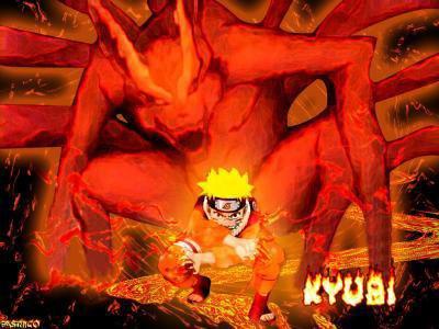 Kyubi le d mon renard neuf queues naruto shippuden - Naruto renard ...