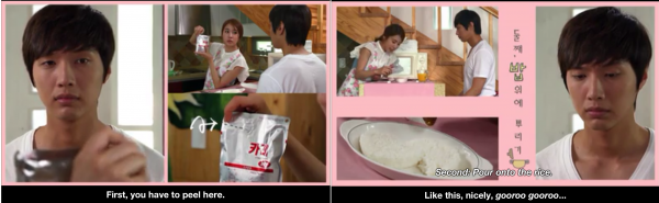 """8 images """"food in K-drama"""""""