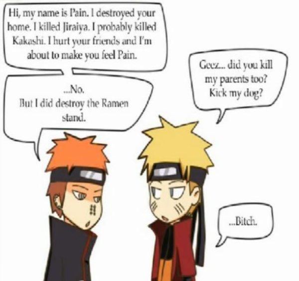 Discussion entre un méchant et un gentil de Naruto Shippuden ! XD