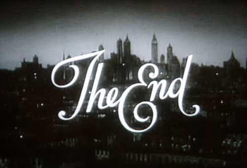 Il était une fois, la fin.