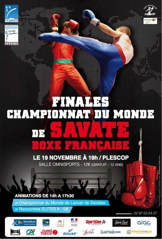 Finales championnat du monde de savate boxe francaise a plescop le 19 novembre !!