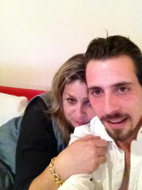 "Mon ami ""Scarfacebigboss"" et moi , super soirée pour ton anniv' mon Tony !!!!"